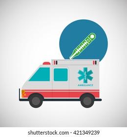 Medical care design. Health care icon. Isolated illustration