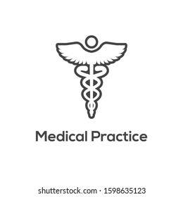 Medical Care Icon w health related symbolism and image