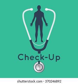 Medical check up logo vector