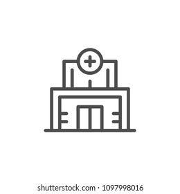 Medical clinic line icon