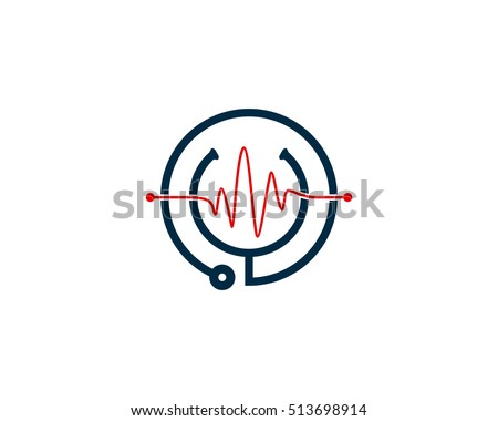 medical clinic logo design template element stock vector royalty
