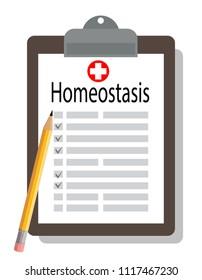 medical clipboard, homeostasis