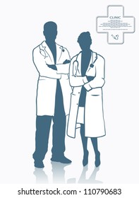 Medical colleagues - vector illustration