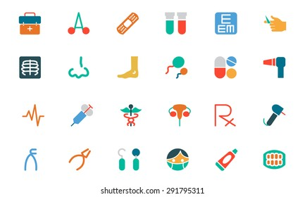 Medical Colored Vector Icons