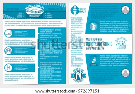 medical company brochure flyer template orthopedic stock vector