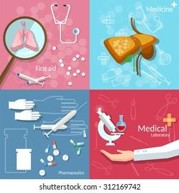 Medical concept dentistry surgery transplantation pharmaceutics technology drug pills vector banners