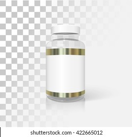 Medical and cosmetic bottle mockup