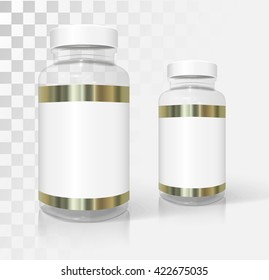 Medical and cosmetic bottles mockup