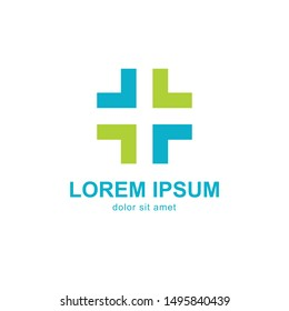 Medical Cross and Health Pharmacy Logo Vector Template