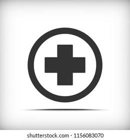 Medical cross icon - vector