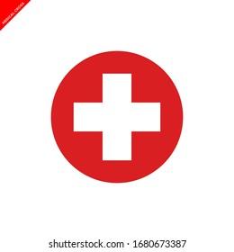 medical cross icon vector logo template