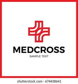 medical cross logo design template set stock vector royalty free