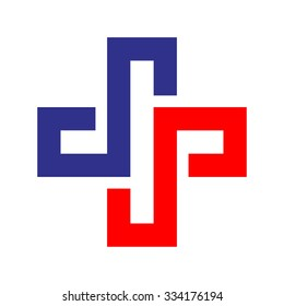 medical cross logo. health care symbol.