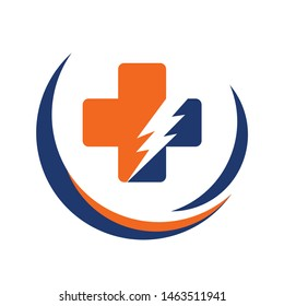 medical cross logo and health logo vector with inspiration