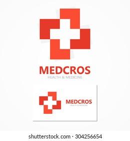 Medical cross logo or icon