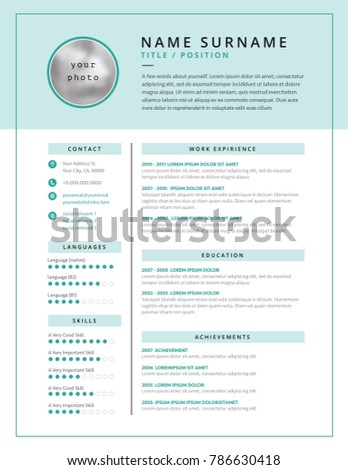 Medical Cv Resume Template Example Design Stock Vector Royalty Free