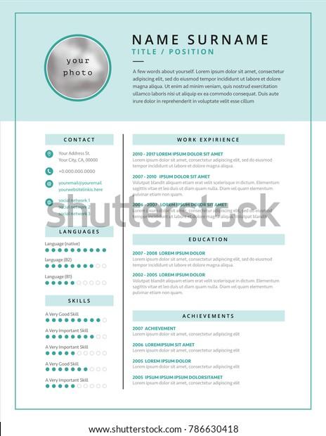 стоковая векторная графика Medical Cv Resume Template