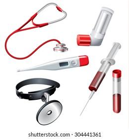 Medical design elements on white background. Vector illustration