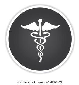 Medical design on black button background,clean vector