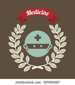 medical design over background vector illustration