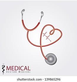 medical design over gray background vector illustration