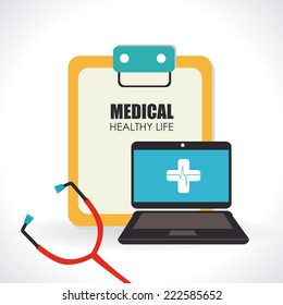 Medical design over white background, vector illustration
