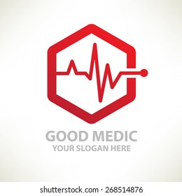 Medical design,logo template,clean vector