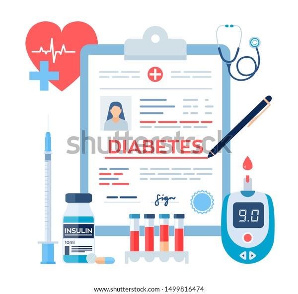 imagenes de diagnostico medico de diabetes