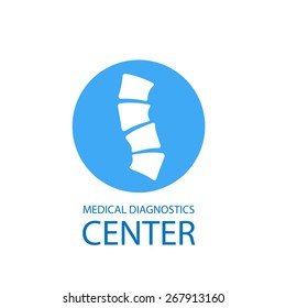 Medical diagnostics center logo, vector illustration