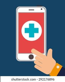 Medical digital design, vector illustration eps 10.