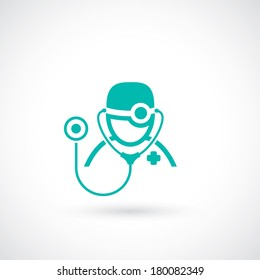 Medical doctor icon - vector illustration