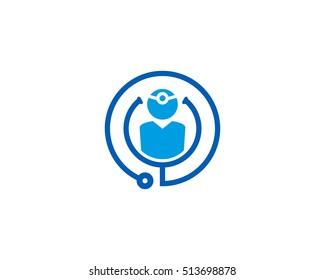Medical Doctor Logo Design Template Element
