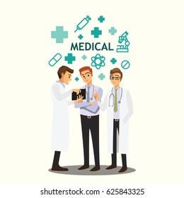 medical doctors team meeting
