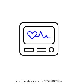 Medical electrocardiography icon. Element of Medical icon for mobile concept and web apps. Detailed Medical electrocardiography icon can be used for web and mobile