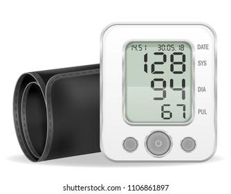 medical electronic tonometer stock vector illustration isolated on white background