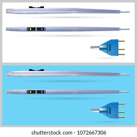 Medical Electrosurgical Rocker Switch Pencil With Plug. Vector illustration