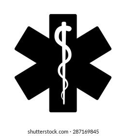 Medical emergency flat vector icon for health app and website
