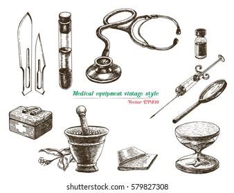 Medical equipment vintage style