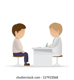 Medical Examination - Isolated On White Background - Vector Illustration, Graphic Design Editable For Your Design