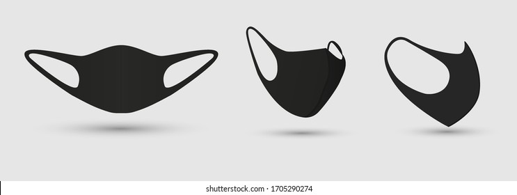 Medical face mask to protect against infection Coronavirus and polluted air. Safety breathing medical respiratory masks. Coronavirus in China, COVID-19. Vector illustration, EPS 10.