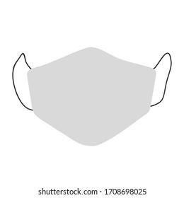 Medical face mask. Vector illustration.
