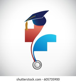 medical field graduation concept illustration design isolated over white