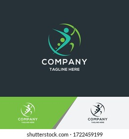 medical fitness logo. suitable for your company