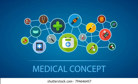 Medical flat icon concept. Vector illustration. Element template for design.