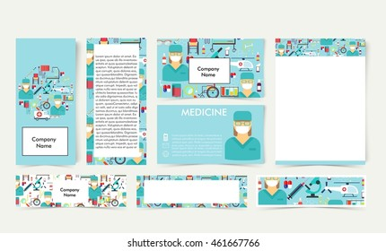 Medical flat vector,layout,business card