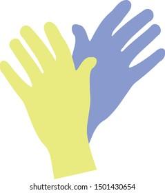 Medical Gloves illustration, science gloves
