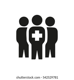 medical group icon illustration isolated vector sign symbol