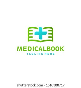 Medical guide book logo design concept