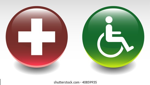 Medical & Handicapped Sign Icons