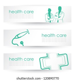Medical headers - vector illustration